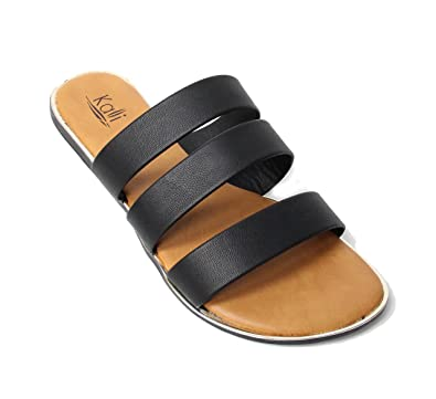 Women's Triple Strap Gladiator Slide Sandal