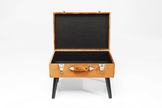 Kare design sgabello valigia con rangements arancione stool