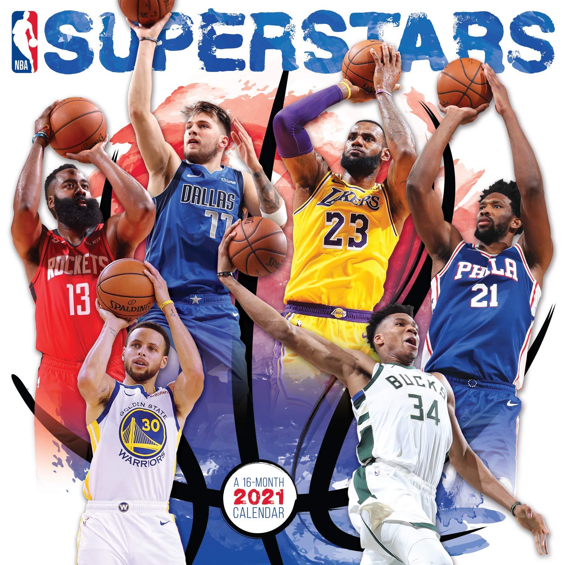 Nba Calendar 2021 2021 NBA Superstars Wall Calendar: Trends International