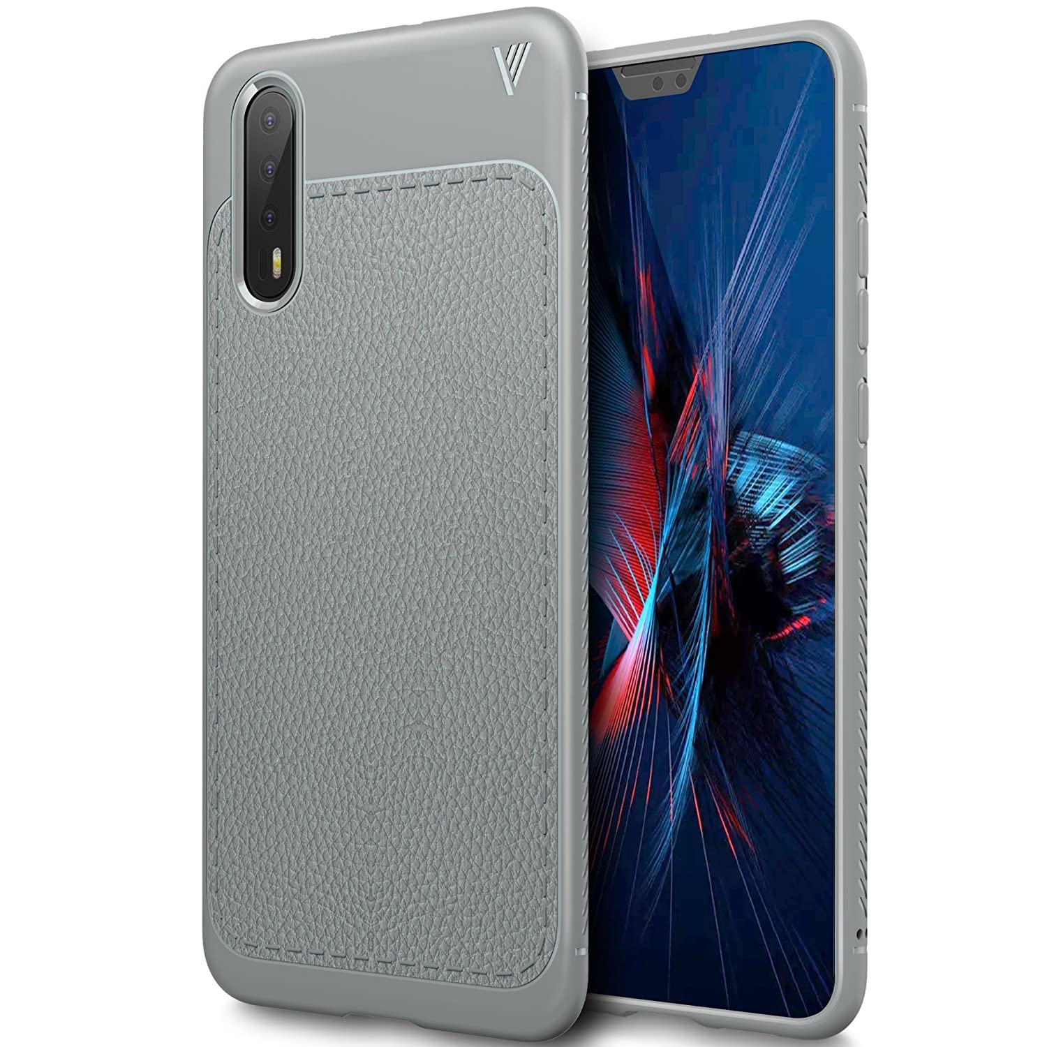 Huawei P20 Pro case, KuGi Huawei P20 Pro case, SS [Scratch Resistant] Premium Flexible Soft Anti Slip TPU Case for Huawei P20 Pro smartphone(Gray)