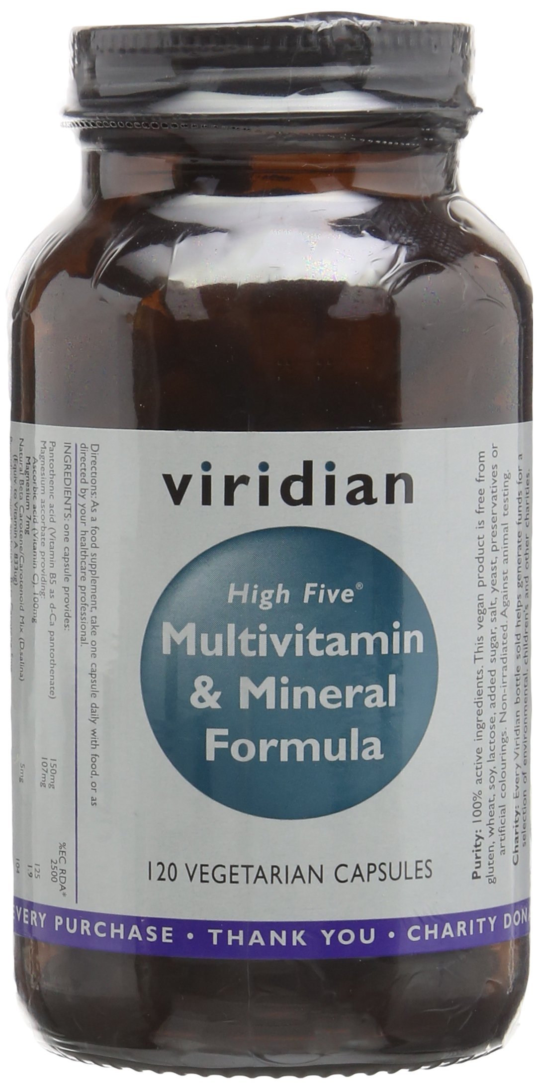 Viridian High Five Multivitamin & Mineral Formula 120 Veg Caps