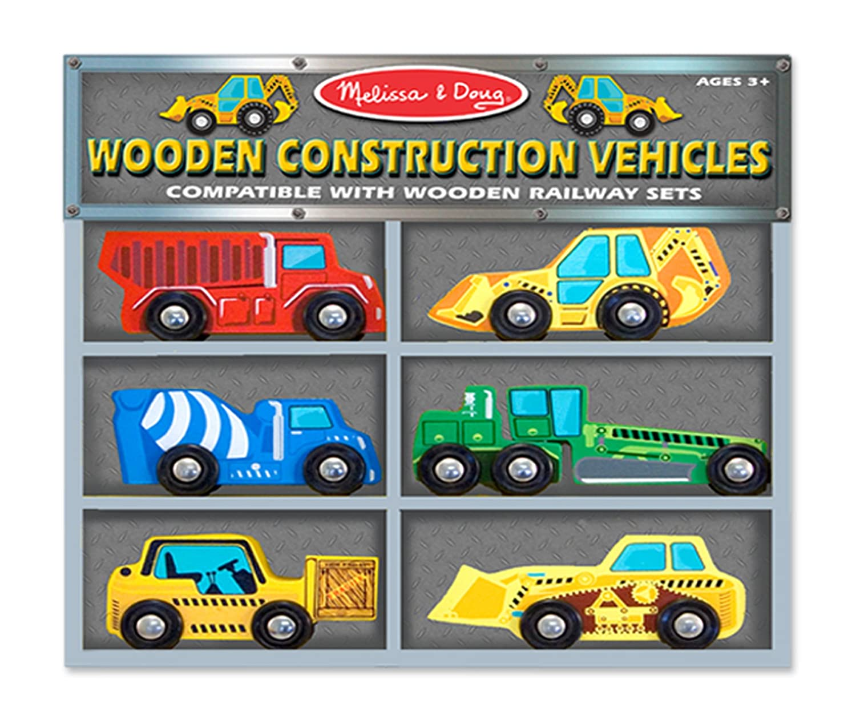 amazon com melissa u0026 doug wooden construction vehicles melissa