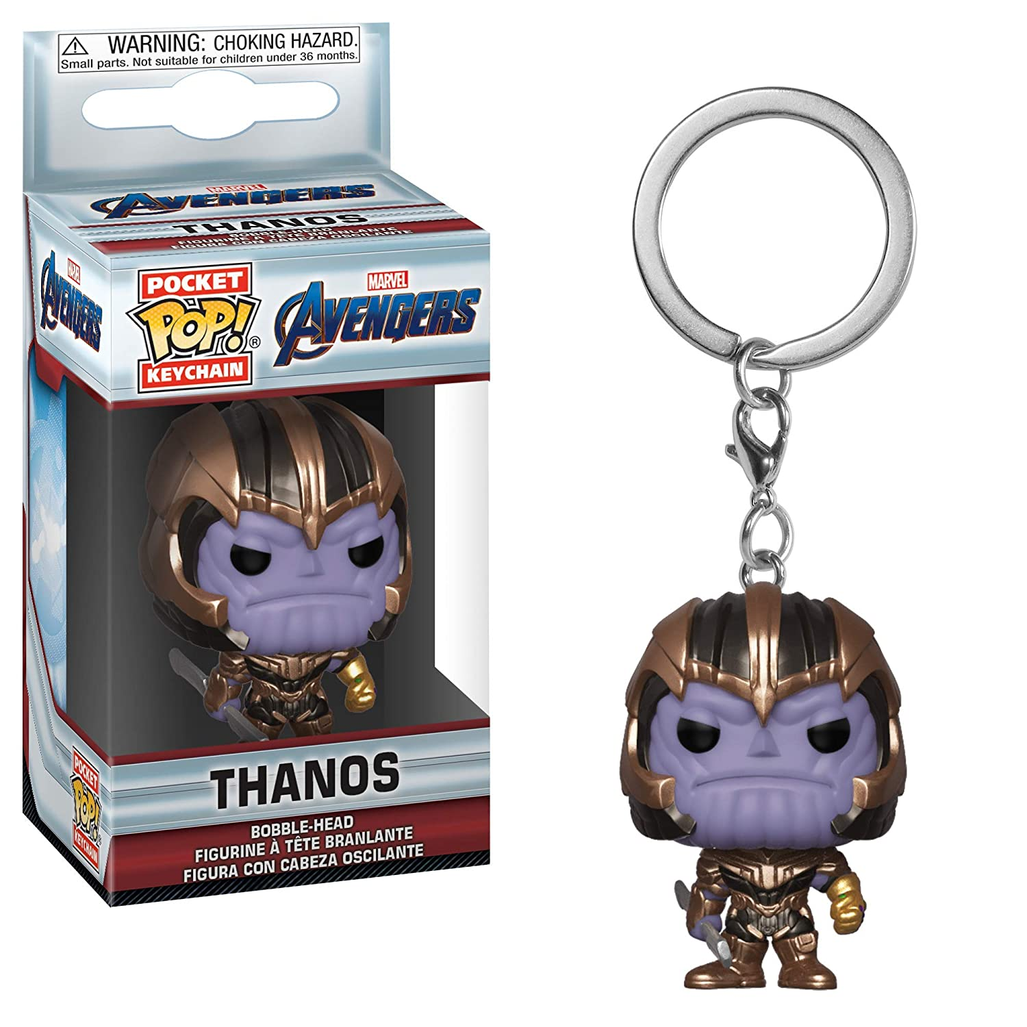 Funko- Pocket Pop Keychain: Avengers Endgame: Thanos Collectible Figure, (36680)