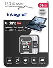64GB Micro SD Card 4K Ultra-HD Video Premium High Speed Memory Microsdxc Up To 100MB/S V30 UHS-I U3 A1 C10, by Integral