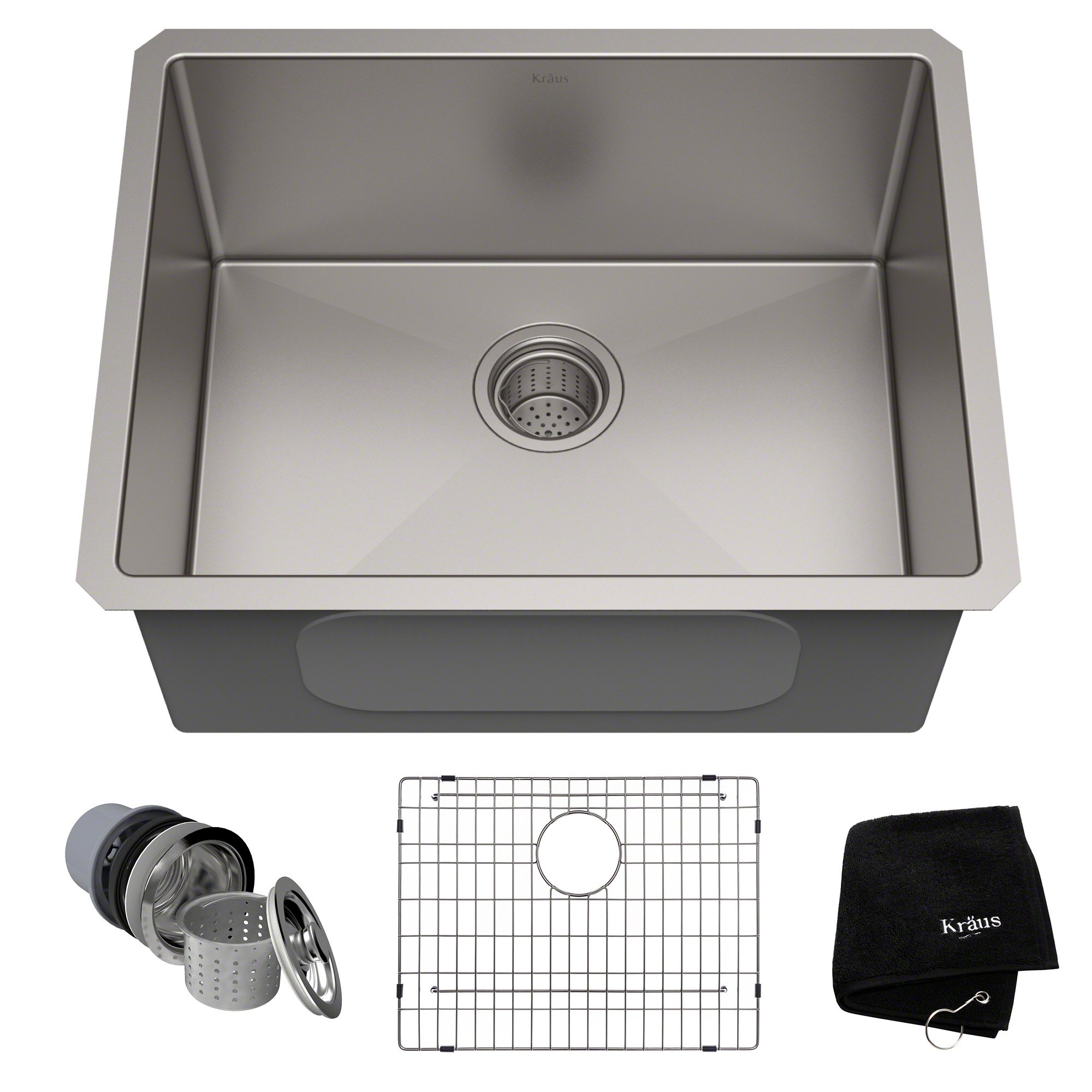 KRAUS Standart PRO 23-inch 16 Gauge Undermount Single Bowl Stainless Steel Kitchen Sink, KHU101-23 by Kraus (Image #1)