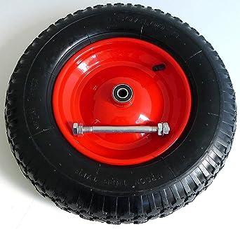 Rueda de carretilla (luftbereift 4.80/4.00 – 8 de diámetro, incluye eje 380