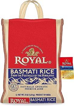 15-Pound Authentic Royal Basmati Rice Bag