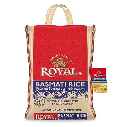 Royal Basmati - arroz en bolsa plástico: Amazon.com: Grocery ...