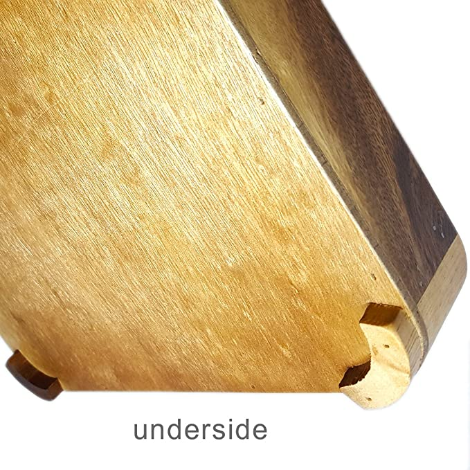 RoRo Acacia Wood Light Serving Tray with handles 18.5 x 12 Inch Pankesum RRoTry1851