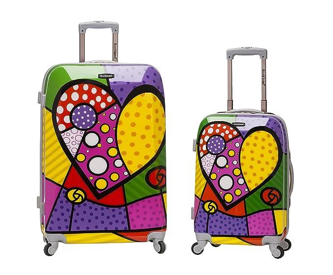 Amazon.com | Rockland 2 Piece Upright Luggage Set, Heart, One Size ...