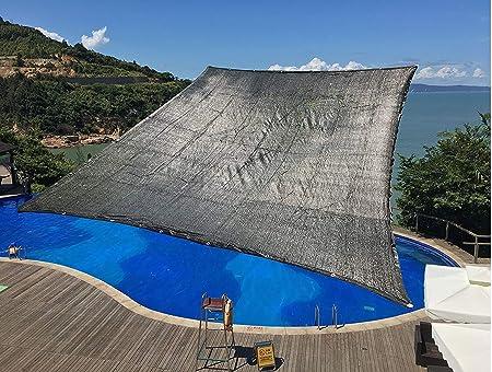 E.enjoy Malla Sombra De Red Sunblock Shade Cloth con Ojales 70% UV Negro para la Cubierta Vegetal Pérgola de la Granja de la Perrera de Greenhouse Barn o Piscina (Tamaño : 13.1ftx23ft):