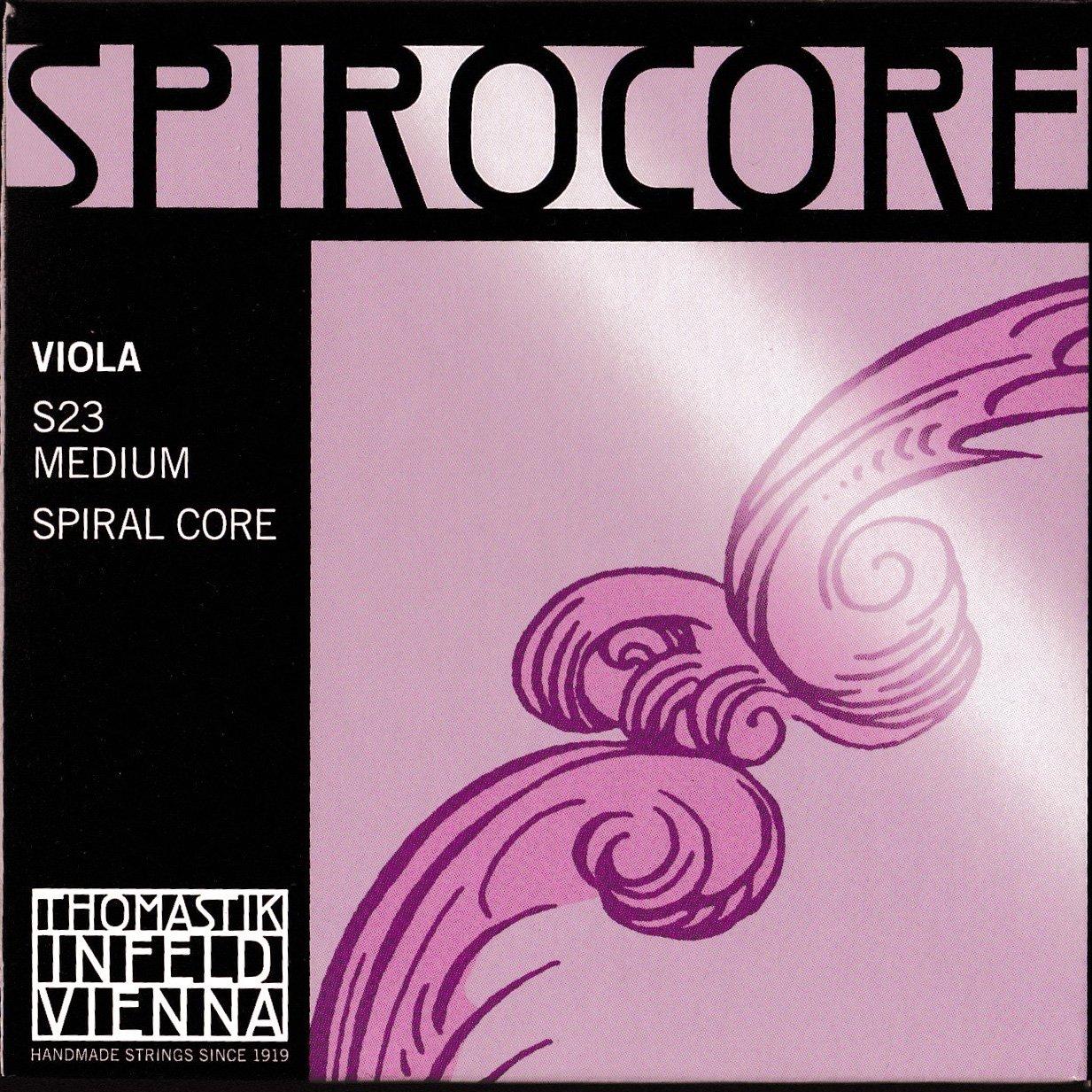 Thomastik-Infeld S23 Spirocore Medium Gauge, Set of 4, Viola Strings, 4/4