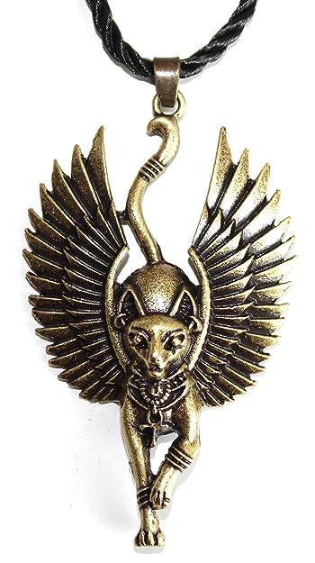 Heilige Katzen Halskette Mit Flügeln Der Göttin Bastet ägyptisches