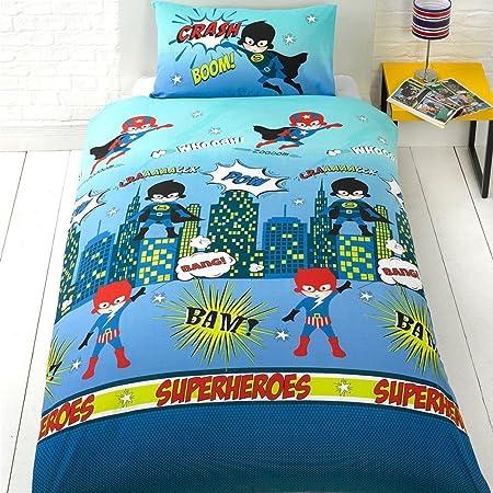 Superhero Junior/Cot Bed Toddler Duvet Cover Kidu0027s Boys Bedding Bed Set