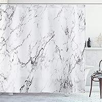 AMBZEK Cortinas de ducha de mármol, líneas de piedra, fondo a rayas, obras de arte, tela de tela, decoración de baño, 60…