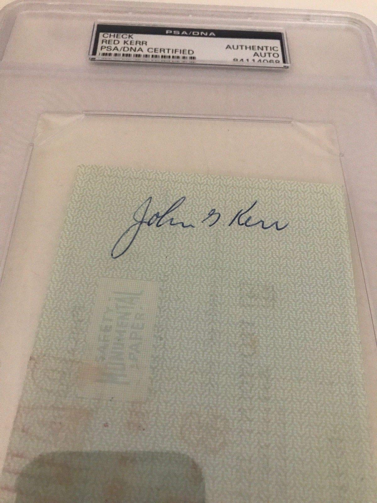 John Kerr Autographed Signed 1965 Philadelphia 76Ers Payroll Check PSA/DNA Authentic Encapsulated