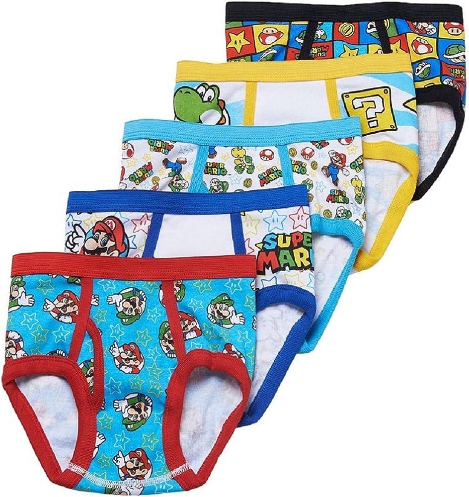 Super Mario Bros. 5-Pack Slip Niños Ropa Interior: Amazon.es: Ropa y accesorios