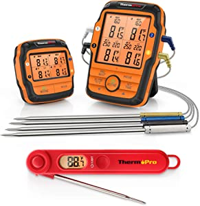 ThermoPro TP27 Wireless Digital Meat Thermometer +ThermoPro TP03B Instant Read Thermometer