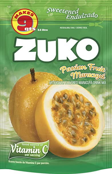 Amazon.com : Zuko Instant Powder Drink, Passion Fruit, 14.1 ...