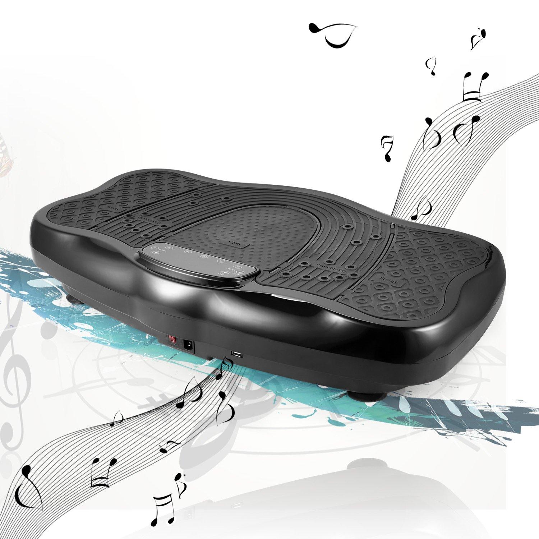 Acecoree Fitnesss Vibrationstrainer Ganzkörper-Trainingsgerät Vibrationsplatte Hometrainer Maschine Vibrationsplattform mit Fernbedienung