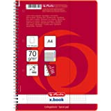 Herlitz Five Colored Tab A4 100 Sheet Squared Spiral Pad (Pack of 3)
