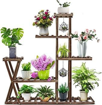 CFMOUR Wood Plant Stand Indoor Outdoor