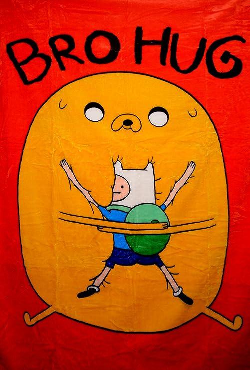 "Adventure Time High Pile Twin Blanket Throw 60/""X80/""--Sky Kick"