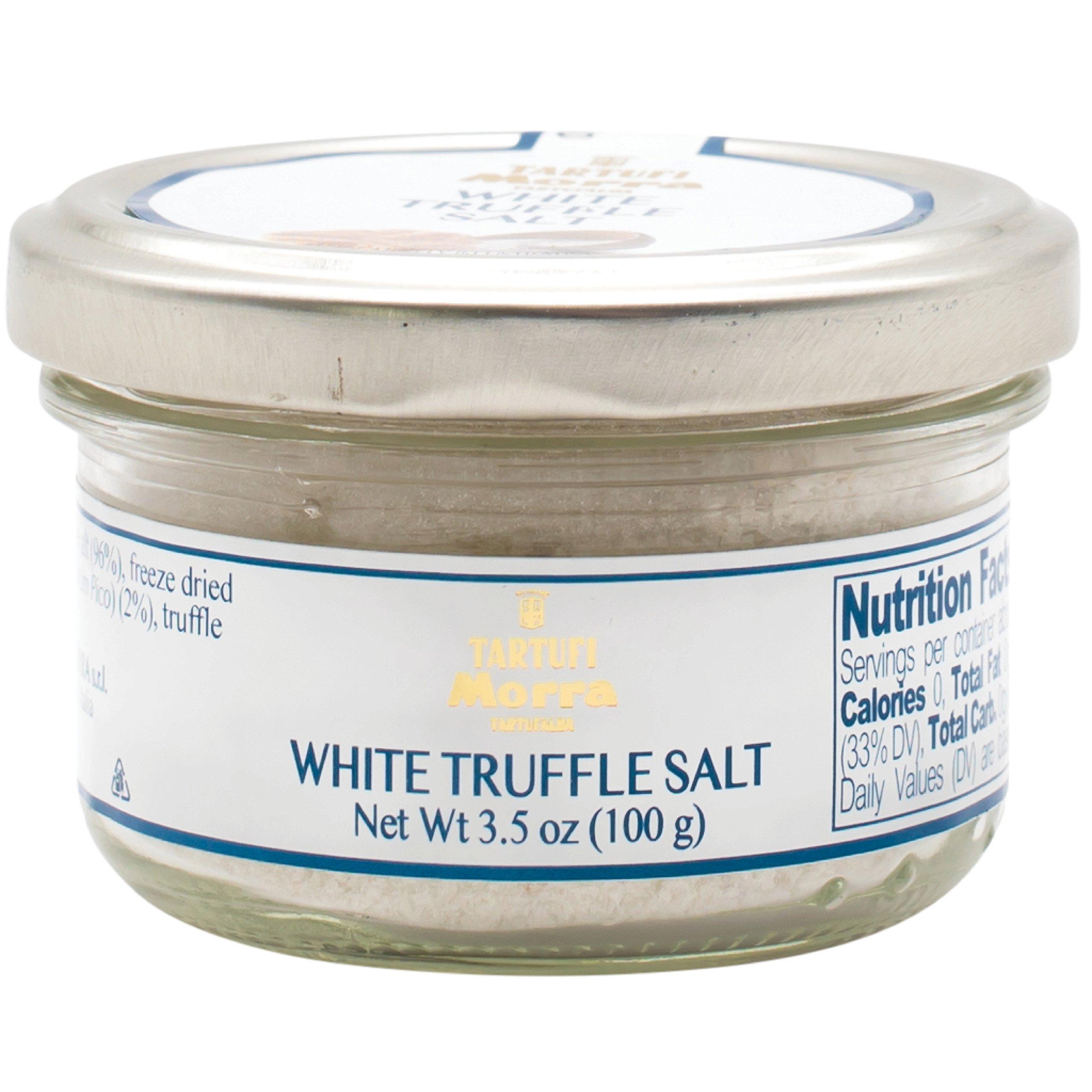 TARTUFALBA Italian White Truffle Salt - Tartufi MORRA from Alba - Sale di Tartufo Bianco - 3.5 oz - 100G
