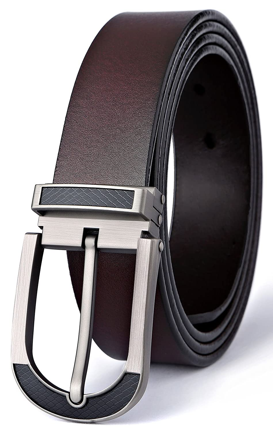 Men's Belt, Bulliant Leather Adjustable Belt for Men Dress Casual 1 3/8, Trim to Fit