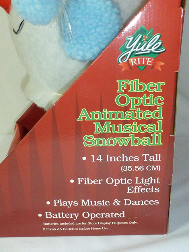 Amazon.com: Yule Rite Fiber Optic Animated Musical Snowball Sings We Wish  You A Merry Christmas! and Dances: Toys & Games - Amazon.com: Yule Rite Fiber Optic Animated Musical Snowball Sings We