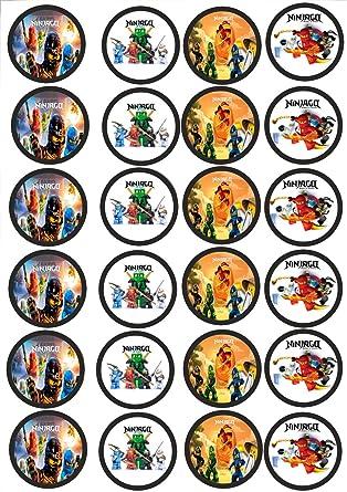 24 Muffin Cupcake Aufleger Fondant Lego Ninjago C4 Amazon De