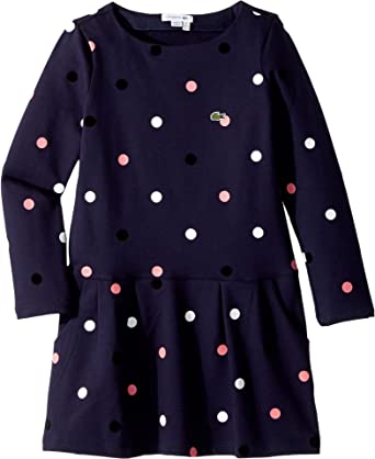 145a1c2582c0d Amazon.com: Lacoste Kids Baby Girl's Long Sleeve Polka Dot Dress ...