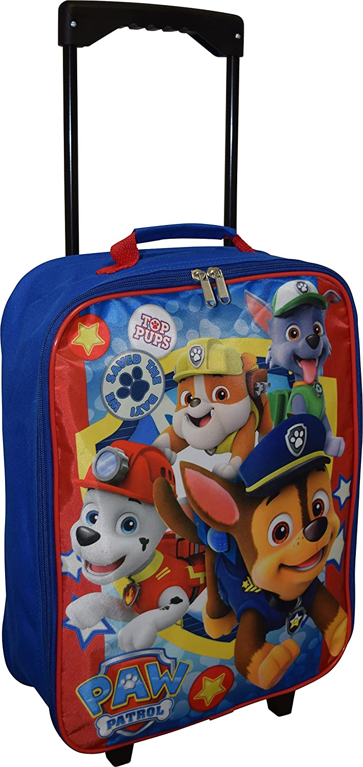 "Nickelodeon Paw Patrol 15"" Collapsible Wheeled Pilot Case - Rolling Luggage"