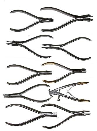 Dientes técnica – ortodoncia kfo – 10 Alicates en Juego con Alicate telescópico