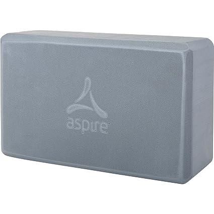 Amazon.com : ASPIRE Yoga Block, Grey : Sports & Outdoors