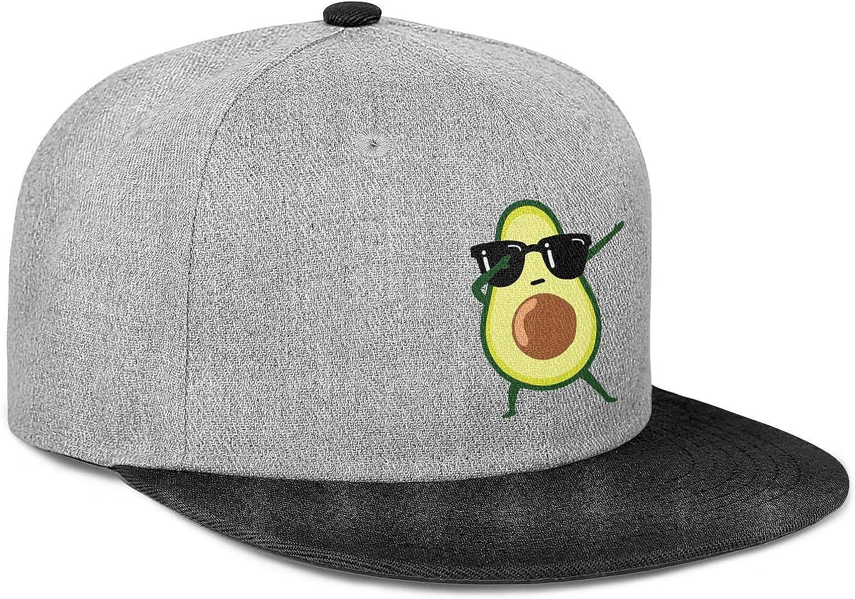 Newpz Green The Dabbing Avocado Glasses Funny Mens Women Wool Trucker Cap Adjustable Snapback Beach Hat