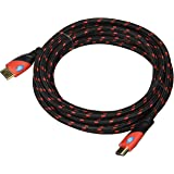 Top Dog Cables - TD-02BKR- Gold Premium 10' High Speed HDMI Cable with Ethernet - Red/Black - 3D HD PS3 4 XBOX One 360 DVD TV Blu Ray