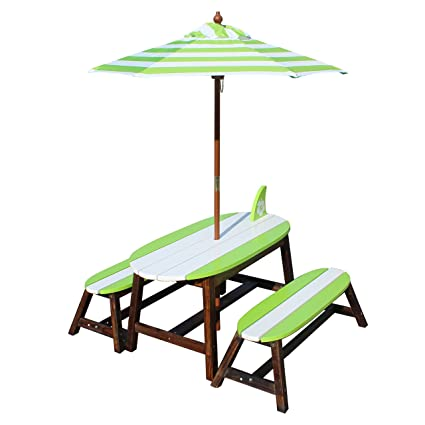Remarkable Amazon Com Teamson Kids Kids Surfboard Outdoor Table And Creativecarmelina Interior Chair Design Creativecarmelinacom