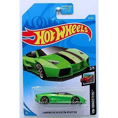 Hot Wheels 2020 HW Roadsters Lamborghini Reventon Roadster 18/250, Green: Toys & Games