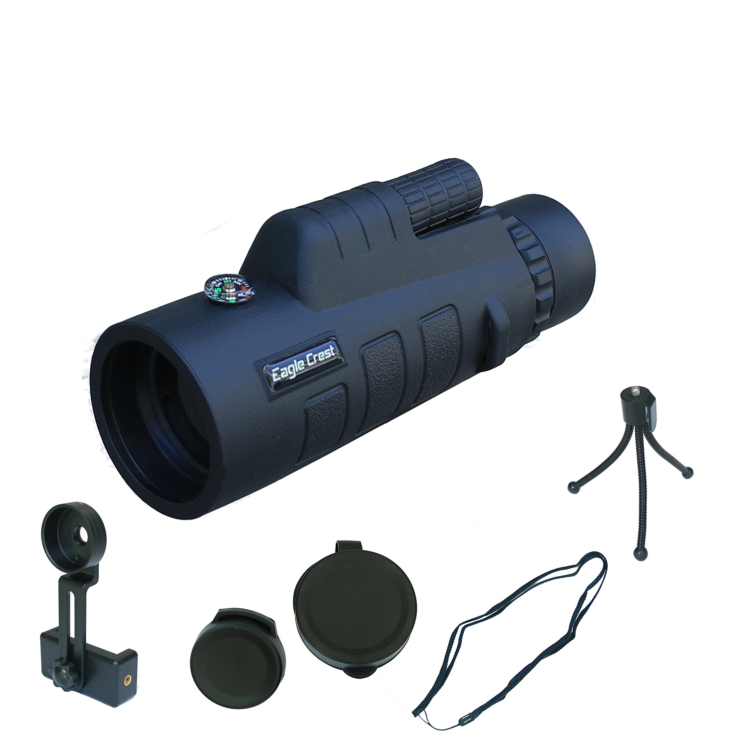 Monocular Telescope, 12X50 Monocular Scope High Power Monocular Telescope 12×50 Waterproof Monocular Scope with Tripod Smartphone Holder for Birdwatching/ Hunting/ Hiking / Golf/ Concert by Farspy