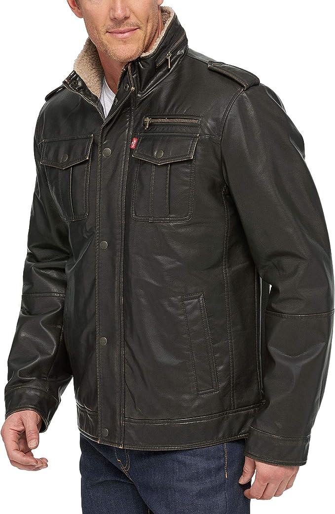 Levi's 李维斯 仿皮 男式保暖夹克外套 优惠券折后$38.4 海淘转运到手约¥392
