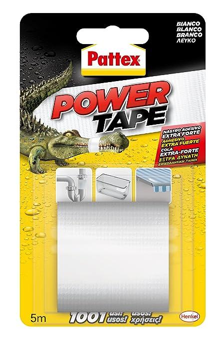 Pattex Power Tape, cinta multiusos ultraresistente, corte fácil, blanco, 5m: Amazon.es: Industria, empresas y ciencia