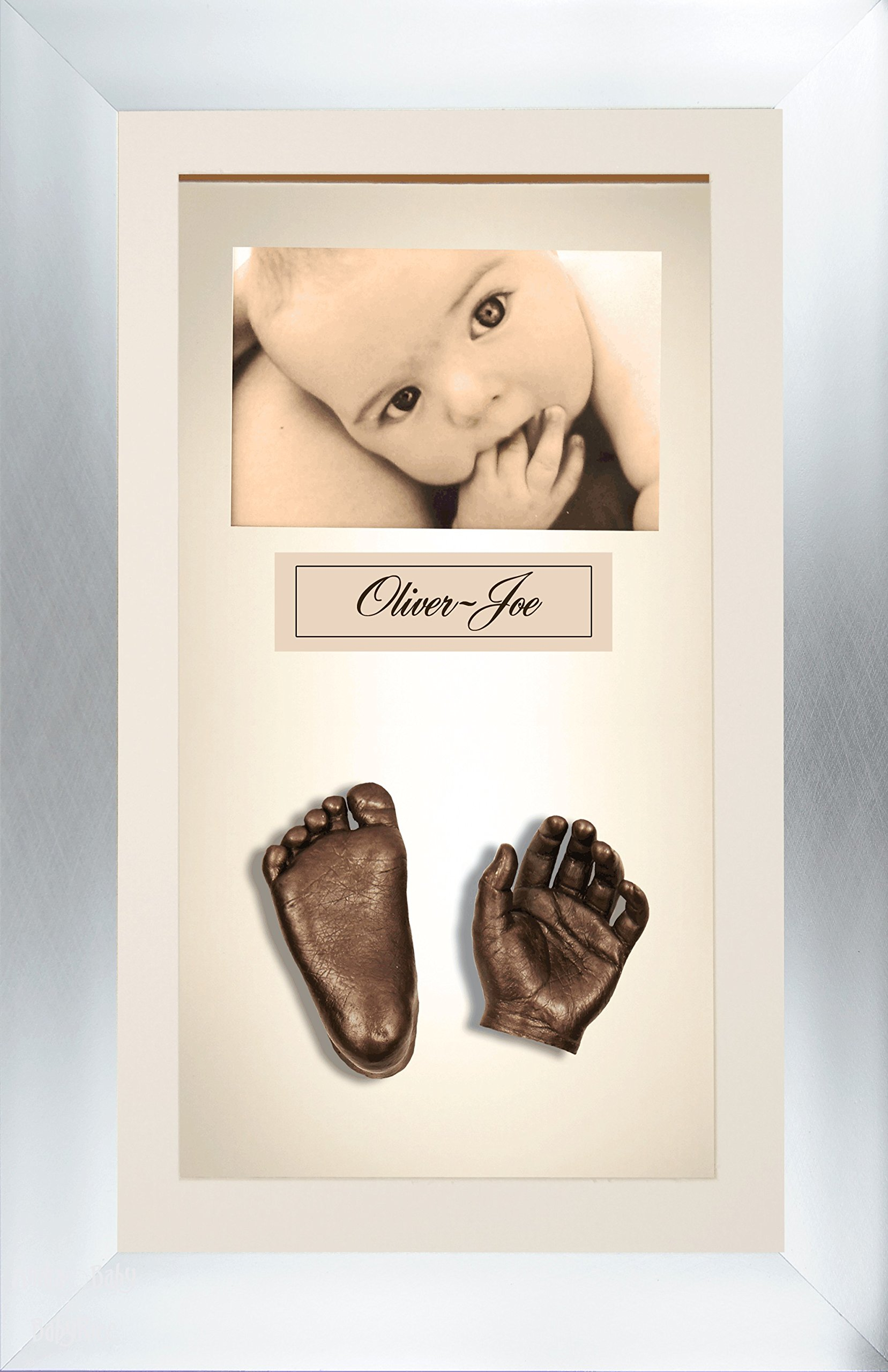 BabyRice 3D Baby Casting Kit Bronze Paint with Bronze Chrome Display Photo Frame by BabyRice