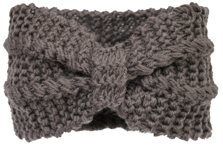 Kmystic Crochet Bow Winter Headband Ear Warmer 11 Grey At Amazon