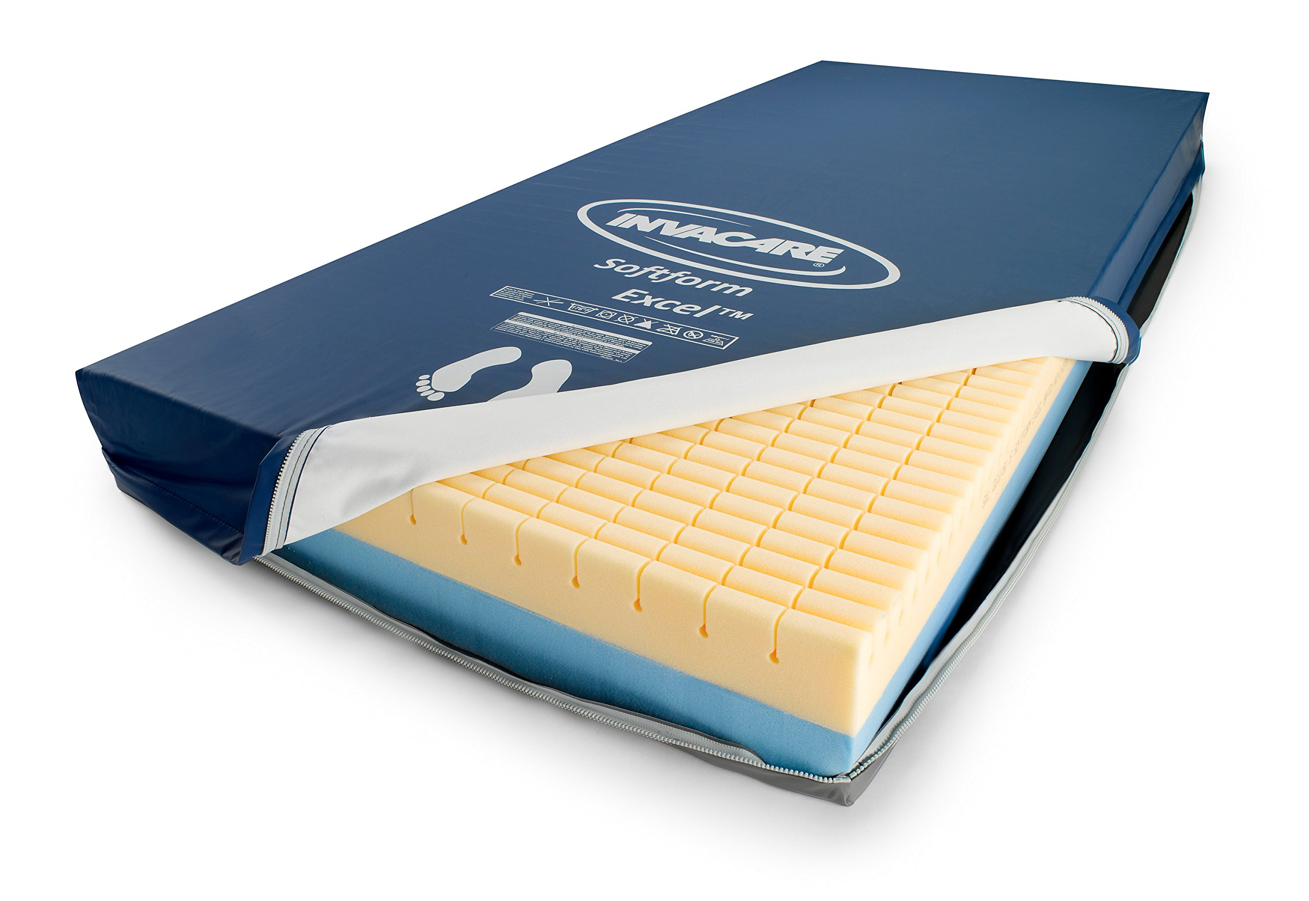 Invacare Softform Excel Mattress, 80 x 36 x 6 inches, countoured Foam Layer, IXL1080 by Invacare (Image #2)