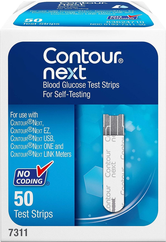 CONTOUR NEXT Blood Glucose Test Strips, 50 Count