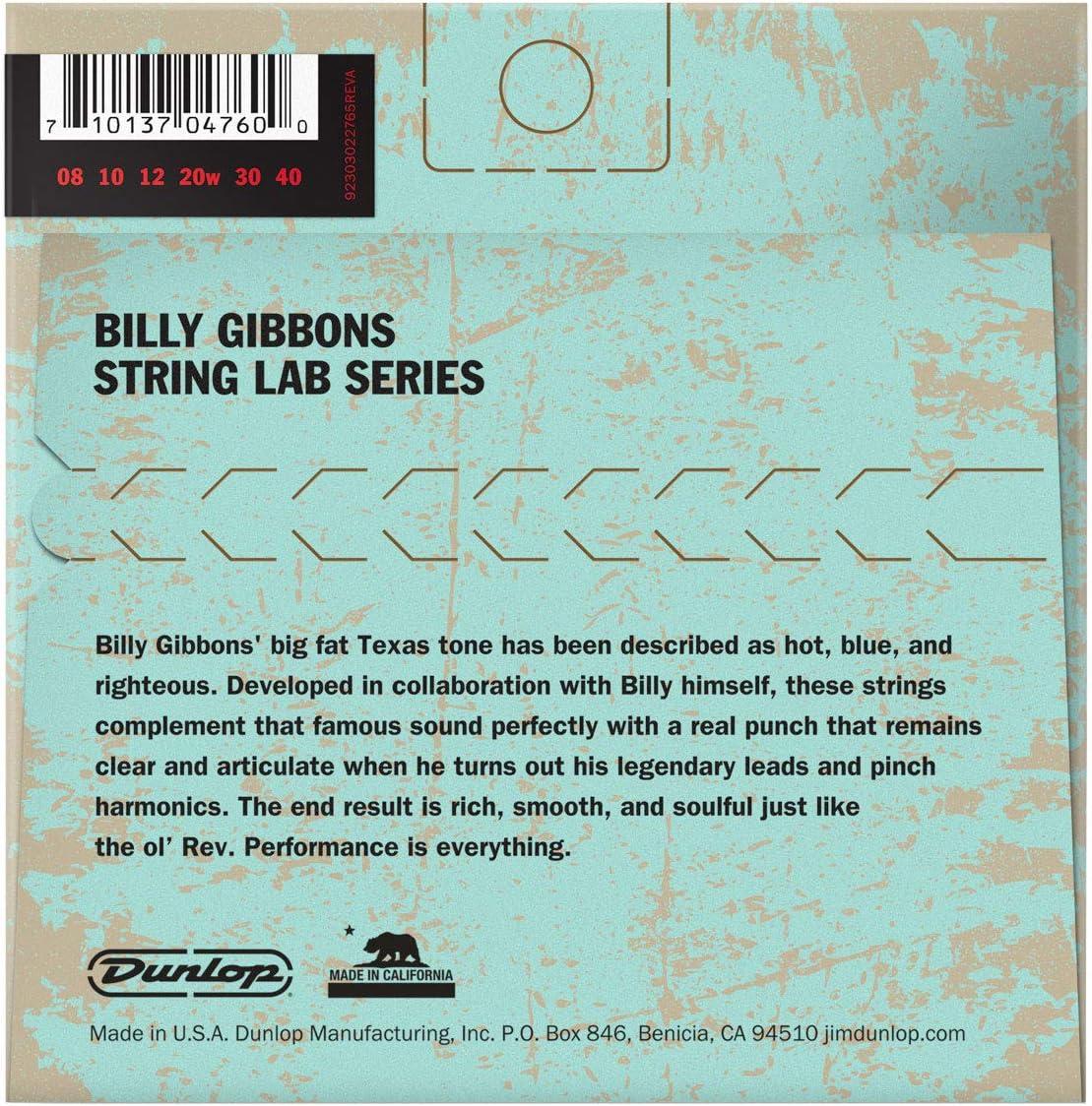 Willys Nickel Wound Guitar Strings 0.08-0.40 6-Strings Dunlop RWN0840 Billy Gibbons Rev