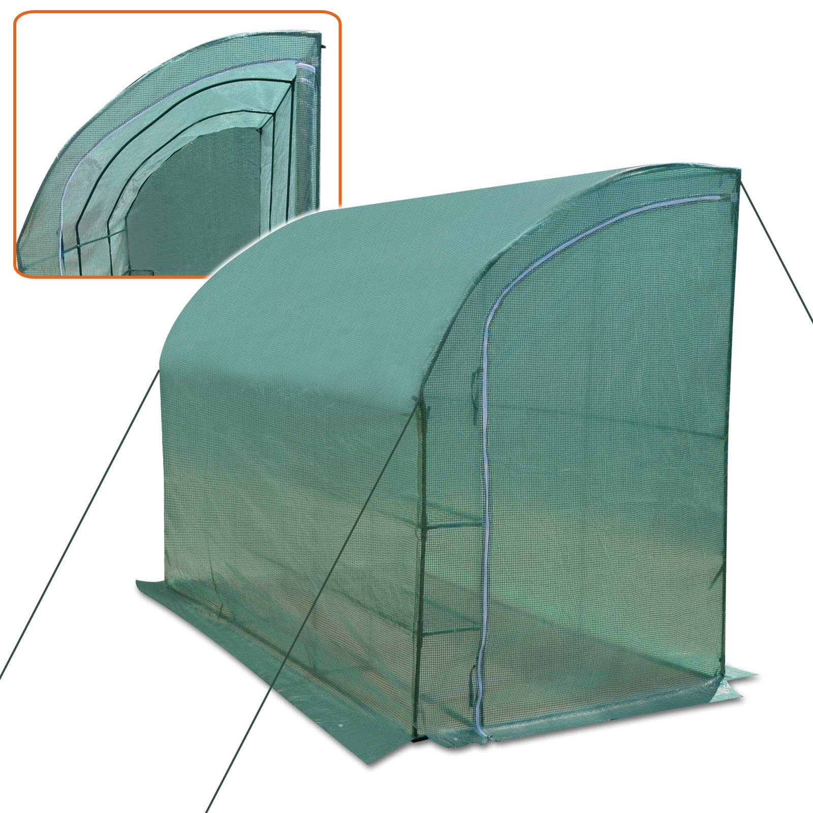 Strong Camel New Large Walk-in Wall Greenhouse 10x5x7'H w 3 Tiers/6 Shelves Gardening (Green) by Strong Camel (Image #2)