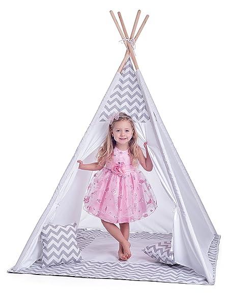 Hape International Woody Woodyland_102191420 Kinder Tent Teepee, weiß