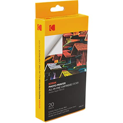 Amazon Kodak Mini Photo Printer Sticker Back Cartridge PMC